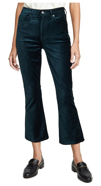 Citizens of Humanity demy cropped flare jeans in midnight green
