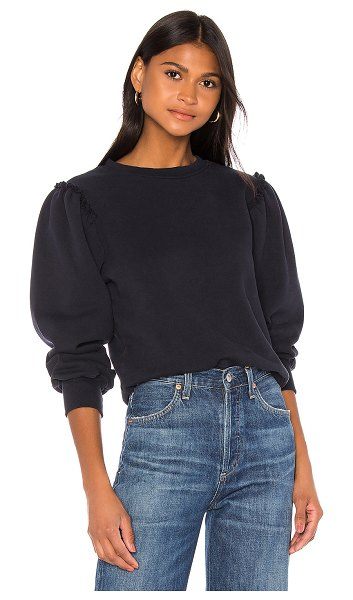 Citizens of Humanity edie puff sleeve sweatshirt in navy