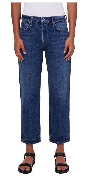 Citizens of Humanity emery high waist crop straight leg jeans in laid back