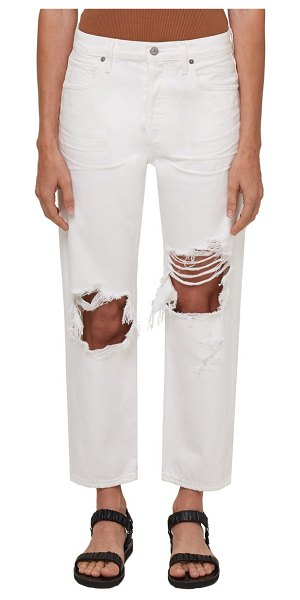 Citizens of Humanity emery ripped high waist crop straight leg jeans in alfresco