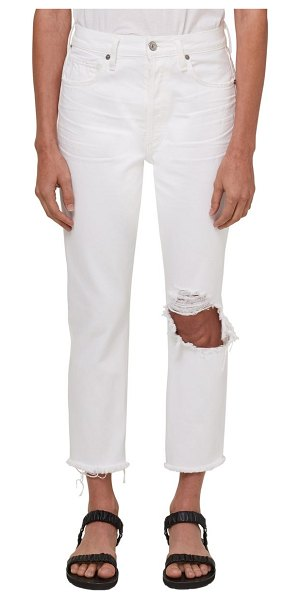 Citizens of Humanity high waist ripped crop nonstretch jeans in fiori