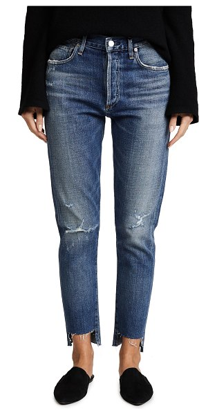 Citizens of Humanity liya high rise classic fit jeans in troublemaker