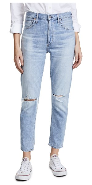 Citizens of Humanity liya high rise classic fit jeans in torn