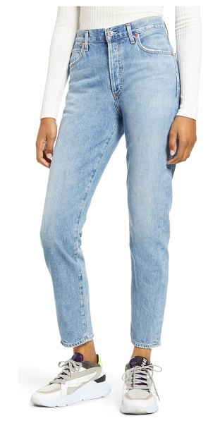 Citizens of Humanity liya high waist nonstretch organic cotton boyfriend jeans in soundtrack