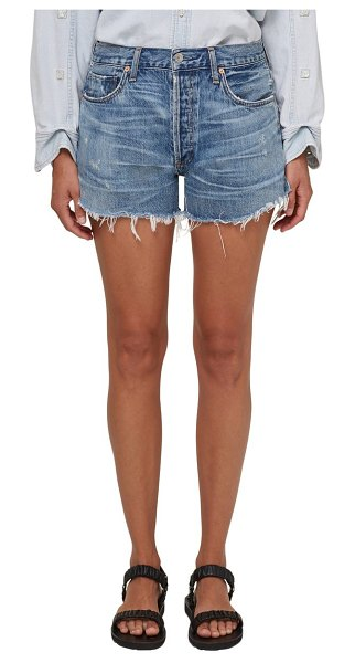 Citizens of Humanity marlow distressed high waist denim shorts in seaward