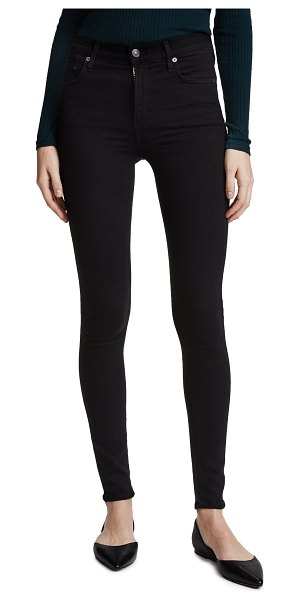 Citizens of Humanity rocket high rise skinny jeans in all black