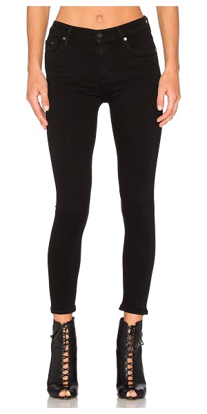 Citizens of Humanity rocket high risky crop skinny in all black