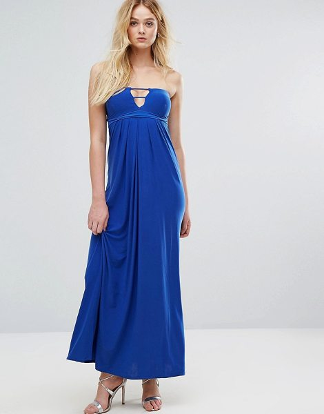 """City Goddess Bandeau Maxi Dress With Cut Out Detail in royalblue - """"""""Maxi dress by City Goddess, Stretch knitted fabric,..."""