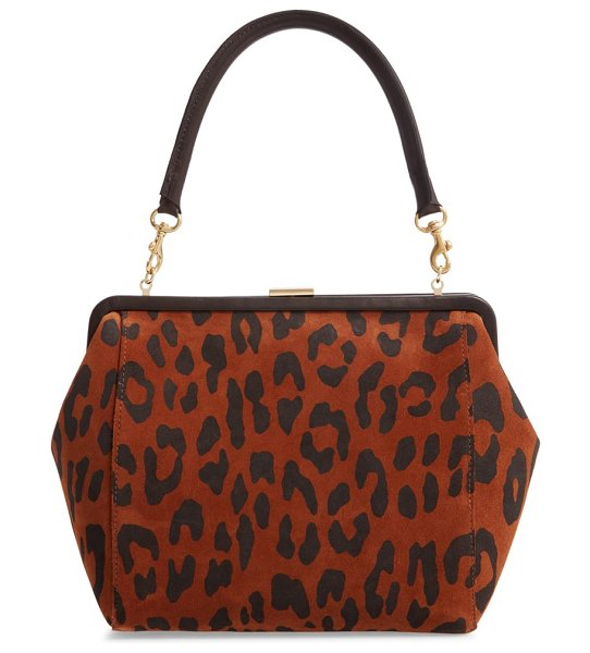 Clare V. le big suede box bag in cognac pablo cat suede