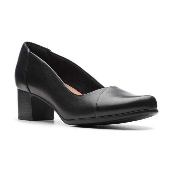Clarks clarks un damson step pump in black leather