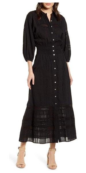 Cleobella bijou balloon sleeve dress in black