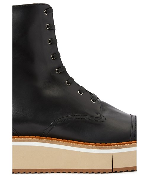 CLERGERIE British lace-up ankle boots in blck clf