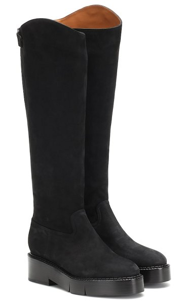 CLERGERIE canada 2 suede knee-high boots in black