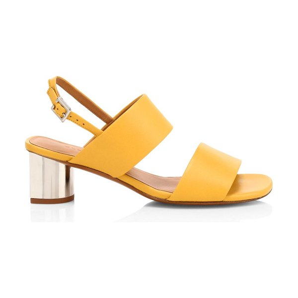 CLERGERIE leonie leather slingback sandals in sun