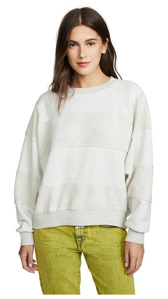 Closed striped sweater in light grey