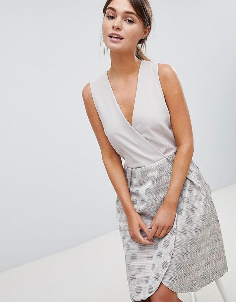 Closet London closet wrap over printed skirt dress in gold - Casual dress by Closet, Some days call for a little...