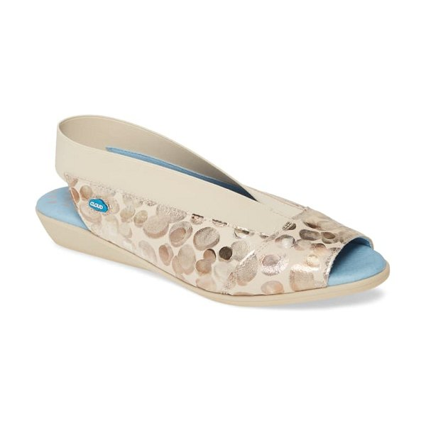 CLOUD caliber slingback sandal in picasso neutral leather