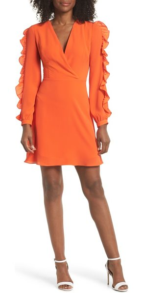CLOVER AND SLOANE ruffle sleeve dress - Luscious ruffles flutter along the sleeves of this...