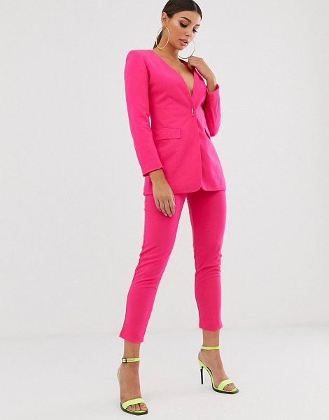 Club L London tailored cigarette pants in hotpink