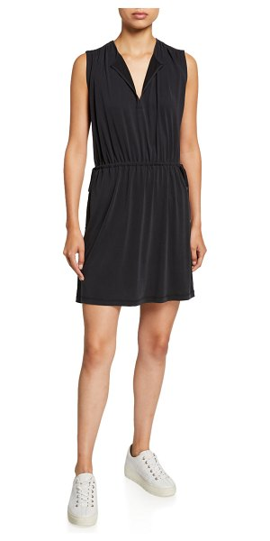 Club Monaco Tie-Waist Sleeveless Dress in black