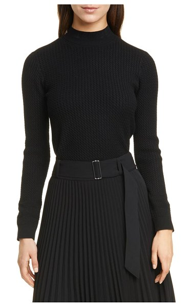 Club Monaco tiny cable sweater in black