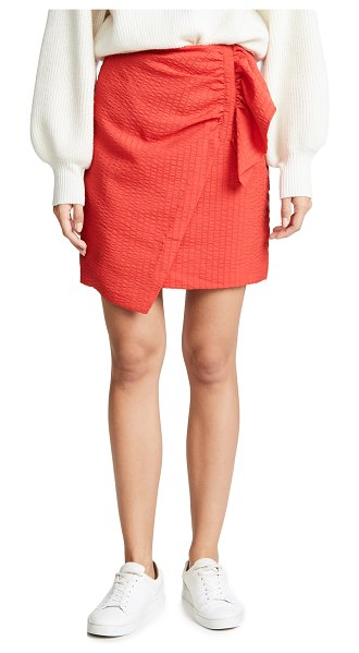 C/Meo Collective advance skirt in cherry