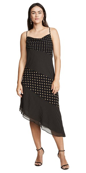 C/Meo Collective palatial midi dress in black spliced paisley