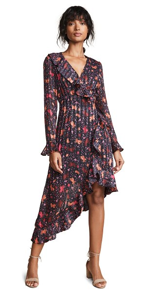 C/Meo Collective significant midi dress in black rose - Fabric: Lightweight weave Ruffled neck and cuffs Floral...