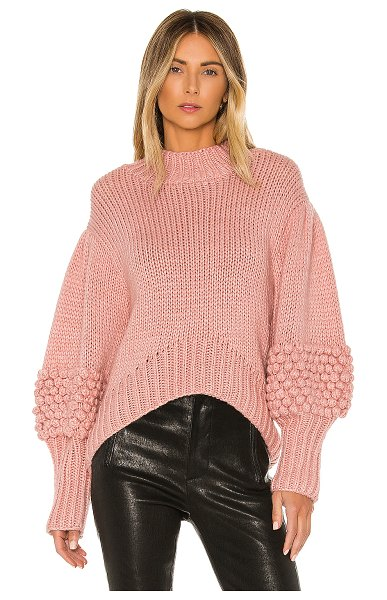 C/MEO hold tight knit sweater in pink