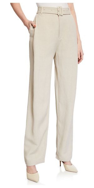 Co. Belted High-Rise Trousers in taupe