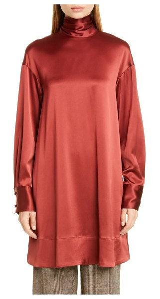 Co. scarf neck tunic blouse in bordeaux