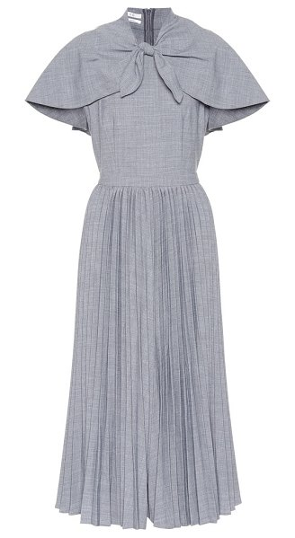 Co. Wool-blend pleated midi dress in grey - The first look from the label's Fall/Winter '18...