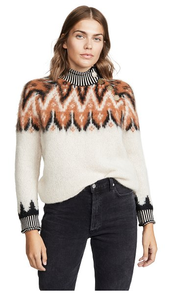 COACH 1941 fair isle turtleneck sweater in ivory
