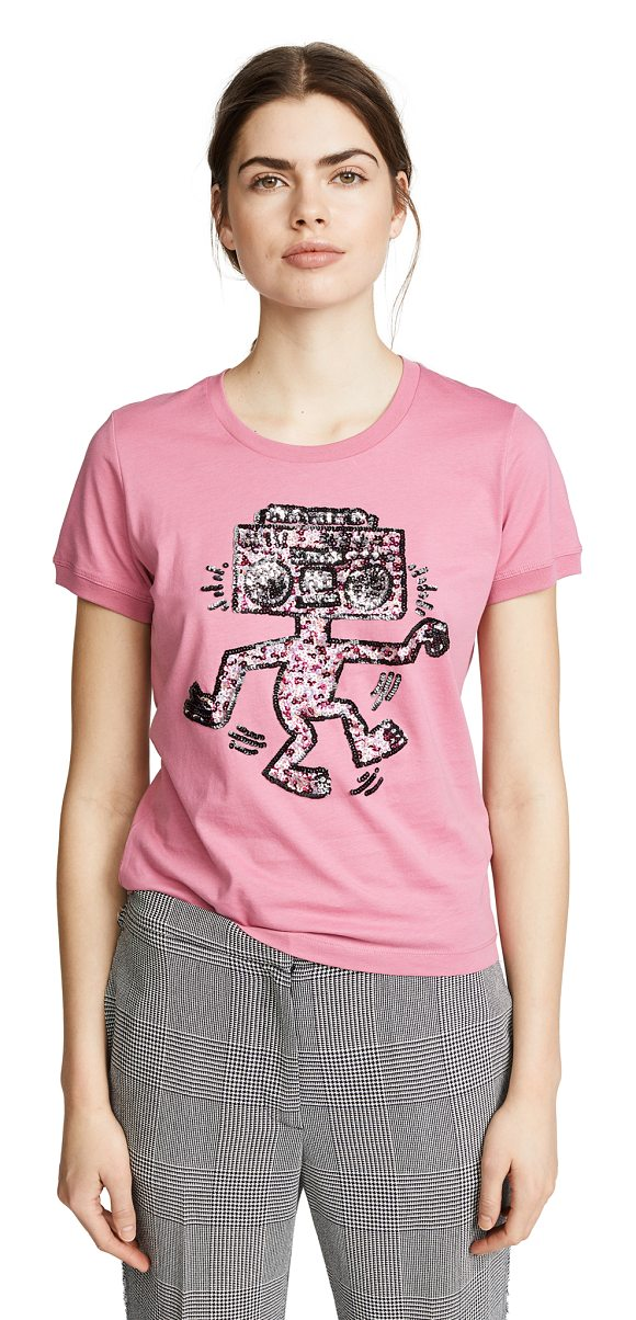 6015a158e8 COACH 1941 X Keith Haring Embellished T-Shirt in Purple
