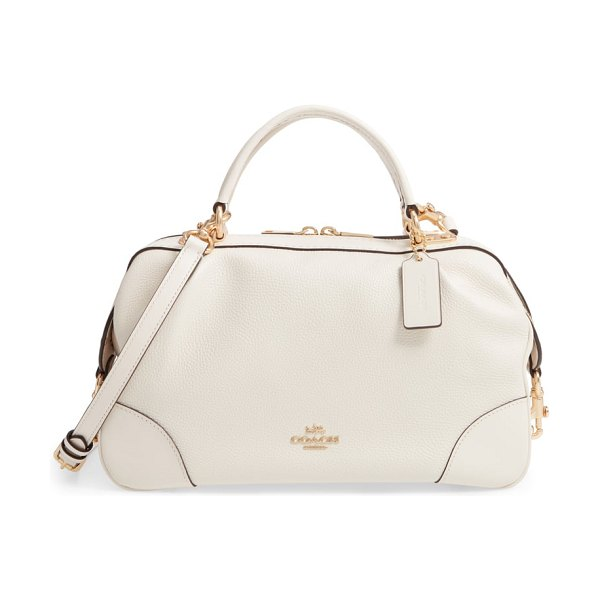COACH aidy leather satchel - Supple leather defines this slightly slouchy satchel...