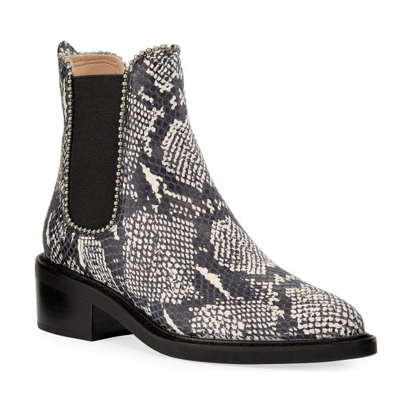 COACH Bowery Bead-Chain Booties in natural