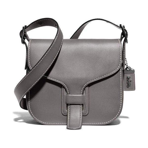 COACH courier leather convertible bag