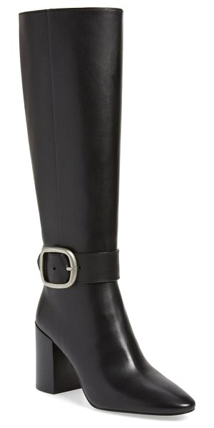 COACH evelyn knee high buckle boot