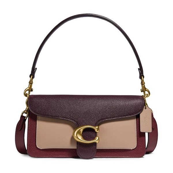 COACH tabby 26 colorblock leather crossbody bag