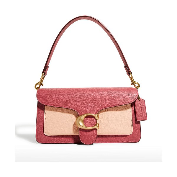 COACH Tabby Colorblock Mixed Leather Shoulder Bag in b4rouge multi