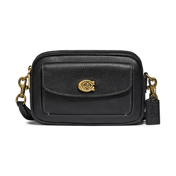 COACH willow pebbled leather crossbody camera bag