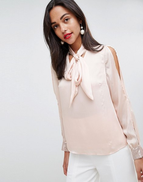 Coast sequin cuff blouse-pink in pink