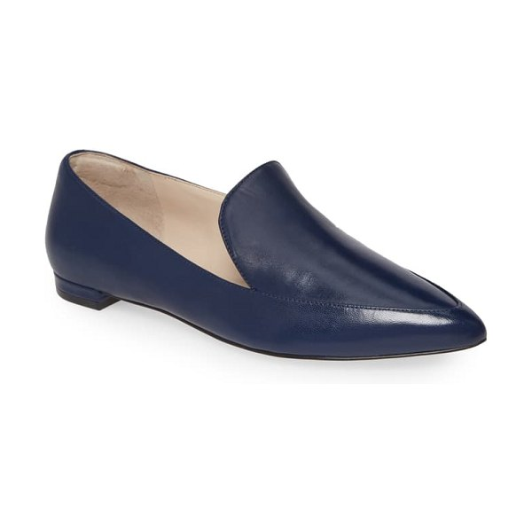 Cole Haan brie skimmer flat in marine blue leather