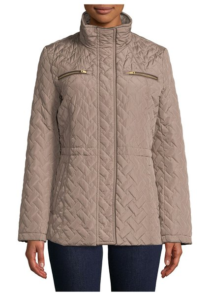 Cole Haan Classic Quilted Coat in cashew