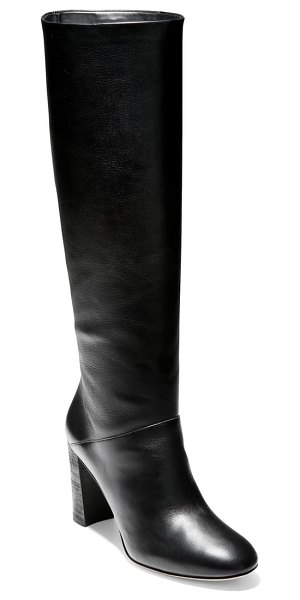 Cole Haan glenda knee high boot in black leather