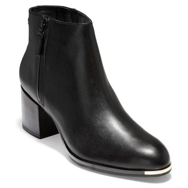 Cole Haan grand ambition boot in black leather