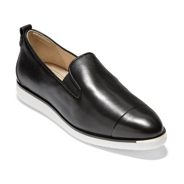 Cole Haan x rodarte grand ambition slip-on in black leather