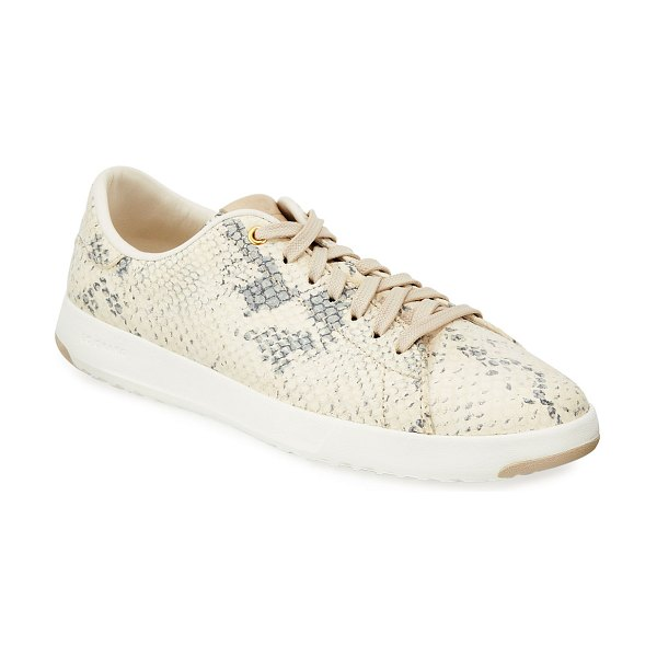 Cole Haan Grandpro Snake-Print Suede Tennis Sneakers in roccia snake