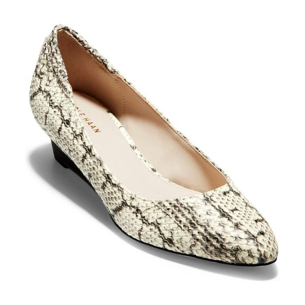 Cole Haan kathryn wedge pump in natural snake print leather
