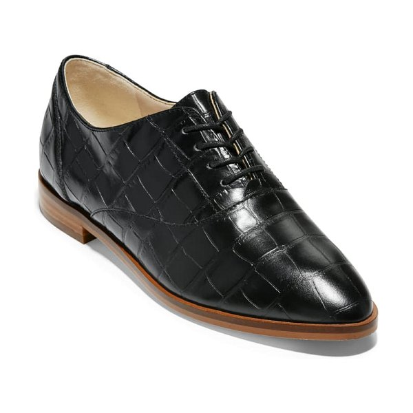 Cole Haan modern classics oxford in python rama printed leather